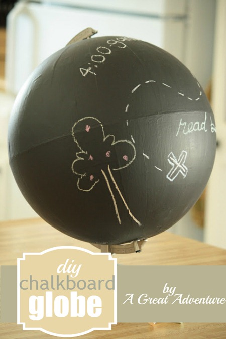 DIY Chalkboard Globe by A Great Adventure