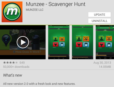 Munzee version 2.0 for Android