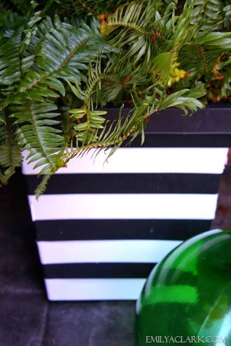 striped planters