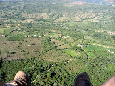 nice view during paragliding