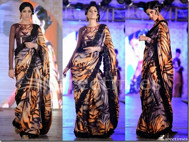 Rohit_Verma_Animal_Print_Saree