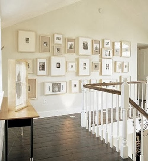 Gallery Wall on Stair Landing