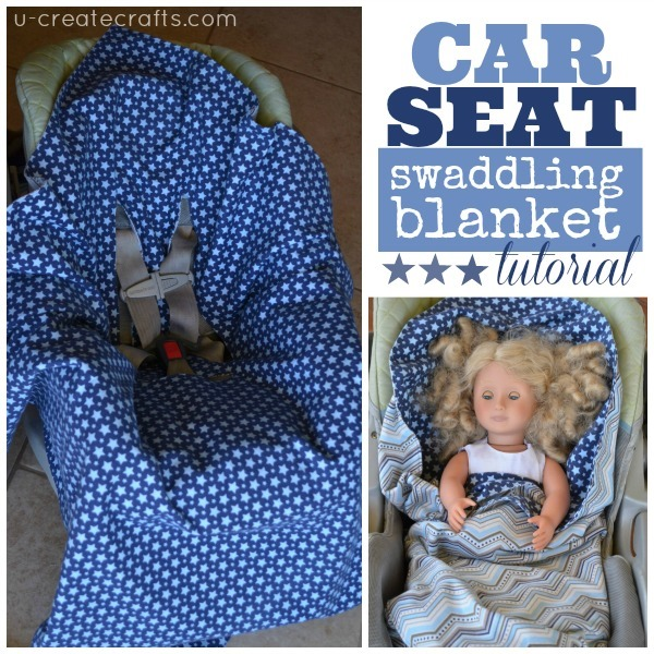 Car Seat Swaddling Blanket by u-createcrafts.com