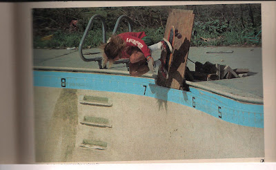 Taking the board out of the pool in the early days........