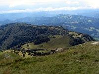 Pogled z vrha proti Davči