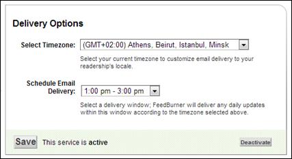 FeedBurner mail zamanı