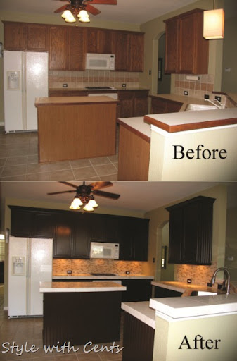 Refinish Laminate Cabinets Before And After Functionalitiesnet