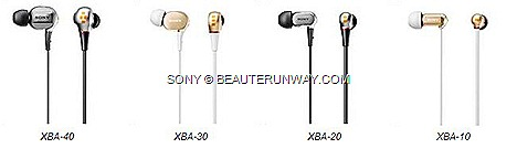 SONY XBA IN-EAR HEADPHONES PRICES XBA-40  XBA-30  Gold Silver XBA-20 XBA-10  PRICES XBA iPHONE MODELS SONY SINGAPORE STORES optimised crystal clear audio reproduction music enjoyment bass superior sound quality