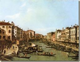Canaletto Le Grand Canal vu du pont du Rialto - 1735