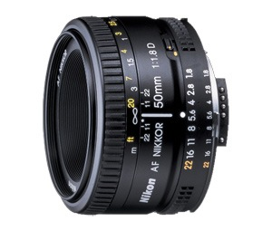 Nikkor 50mm f 1.8D lens