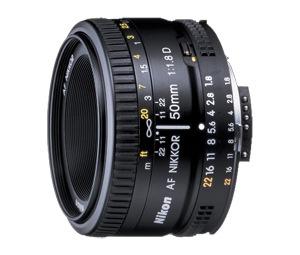Nikkor 50mm f 1.8D lens