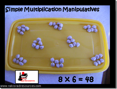 Basic math manipulatives that can be found in your kitchen.  Ideas from Raki's Rad Resources.  beans
