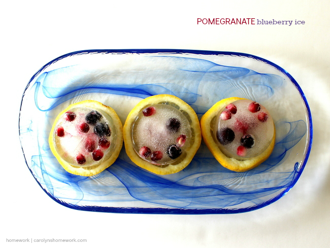 Pomegranate Blueberry Ice by homework | carolynshomework.com