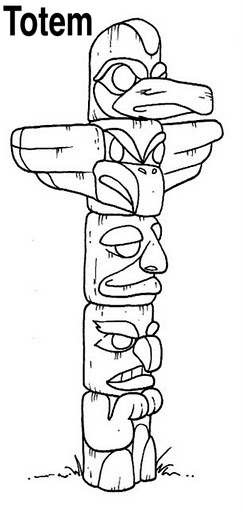 how to draw a totem pole otter