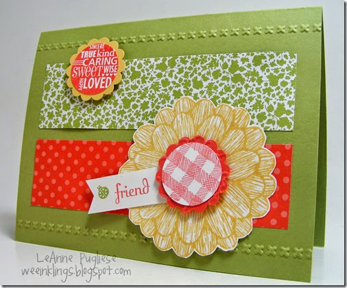 LeAnne Pugliese WeeInklings Paper Players 195 Decorate A Daisy Stampin Up
