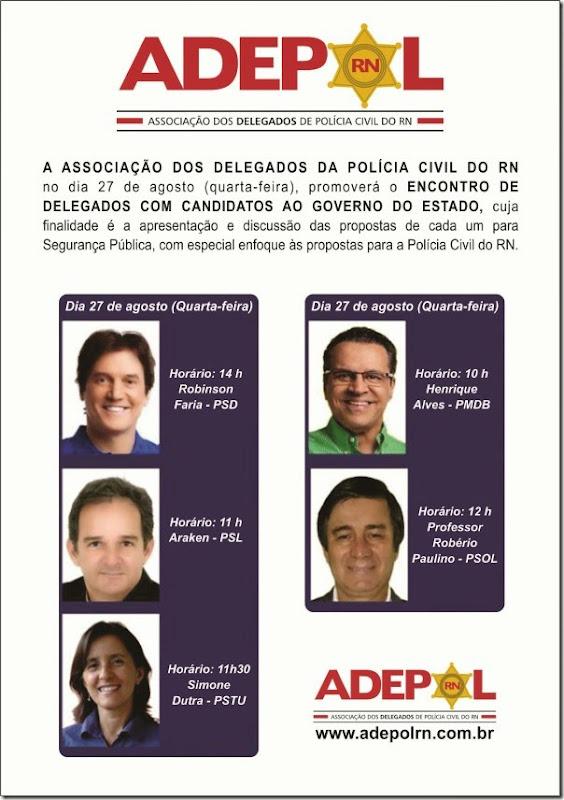 Cartaz Adepol Eleições