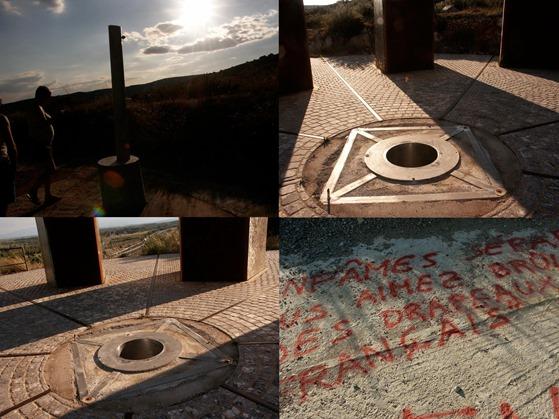 profanacion del monument dde la pòrta de Salses