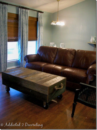 Vintage finds diy project cart coffee table for Does a living room need a coffee table