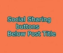 Add Horizontal fixed floating social buttons below post title