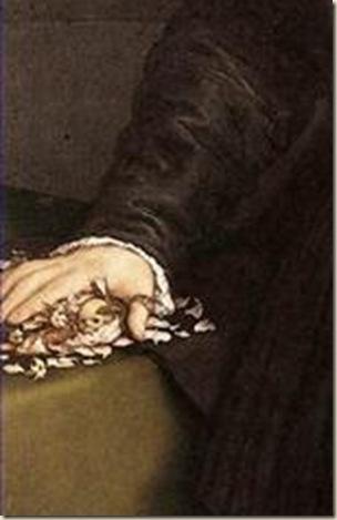 Détail du Portrait de Mercurio Bua, Lotto