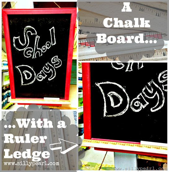 Add a Ruler Ledge to a Chalkboard - The Silly Pearl