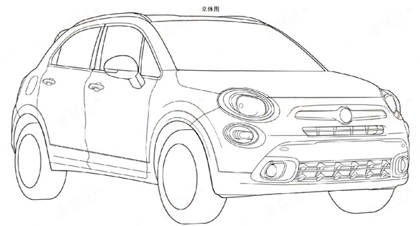 Fiat-500X-patent-front-three-quarters