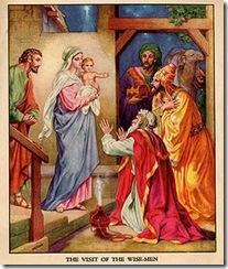 Reis Magos em visita a Jesus de Nazare