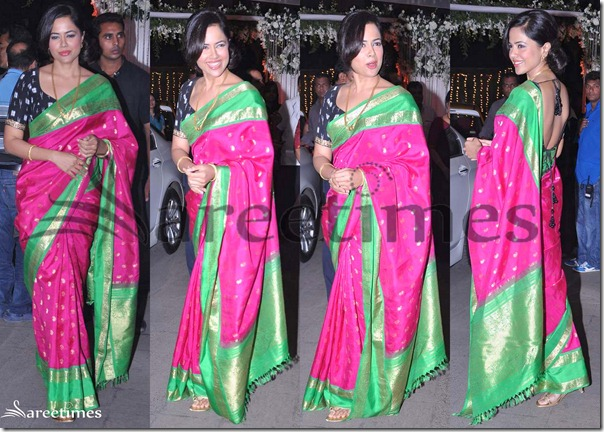 Sameera_Reddy_Pink_Silk_Saree