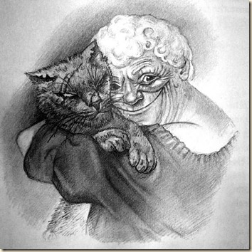 Discworld Nanny and Greebo