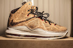 nike lebron 10 gr cork championship 10 01 @KingJames Wears NSWs Nike LeBron X Cork Off the Court