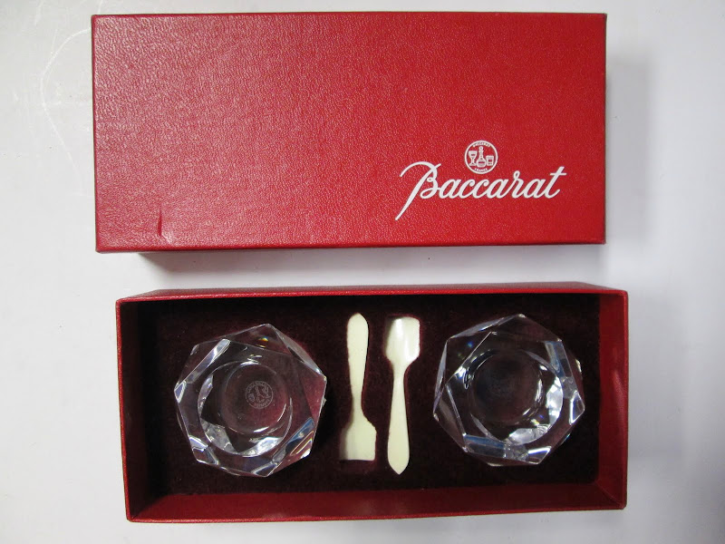 Baccarat crystal salt cellars (set of 2)