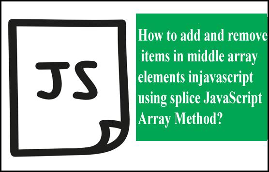 splice-javascript-array-method