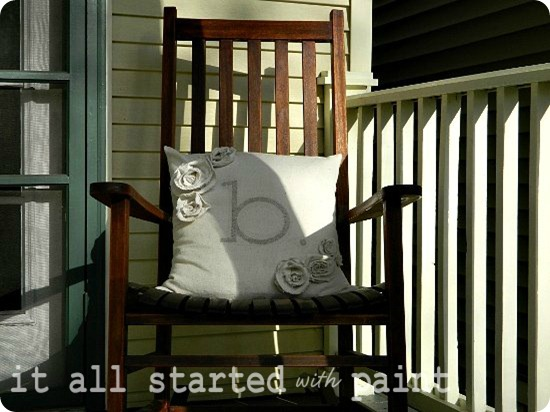 Spring front porch rocker