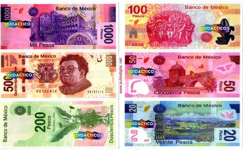 Billetes Mexicanos de juguete (1)
