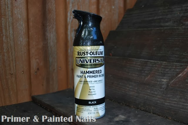 Rust-Oleum Hammered Black - Primer & Painted Nails