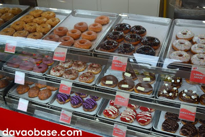 Be amazed at Go Nuts Donuts Abreeza's impressive donuts display counter