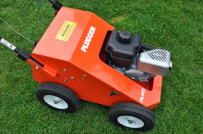 The new Plugger PL415 aerator from DJ Turfcare, launched at SALTEX DSC_0412