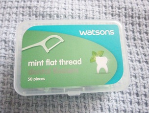 watsons mini flat thread dental floss, bitsandtreats