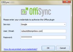 การเติม account ใน offi sync