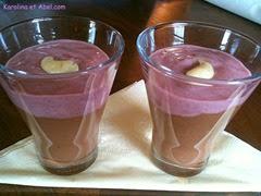 verrine rose chocolat