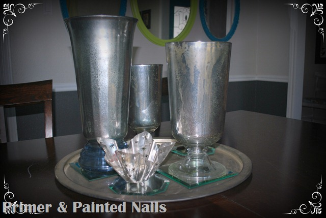 Mercury Glass Vases (2) - Primer & Painted Nails