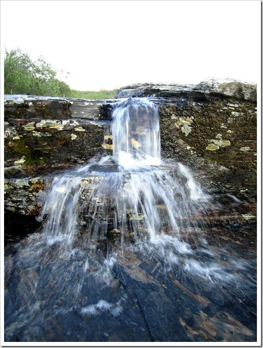 Ett minivattenfall i Abiskojokka