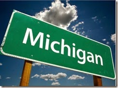 Michigan green sign