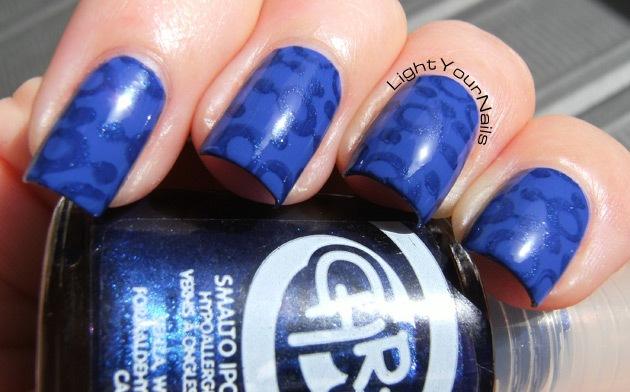Royal Beauty Blu Lacca + Chresy 55 + Cheeky Jumbo plate #10 Happy Nails