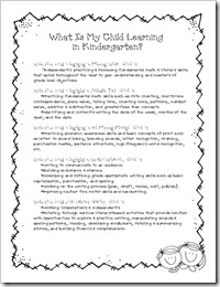 What is My Child Learning in Kindergarten