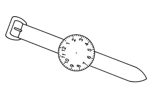 Worksheet. Dibujo de reloj de pulsera para colorear  Imagui