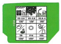 Lingueta de embalagem de Fuijifilm Fujicolor 100
