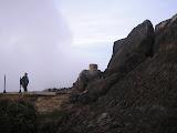 The cement pillar on Antene peak on Sibayak (Daniel Quinn, August 2011)