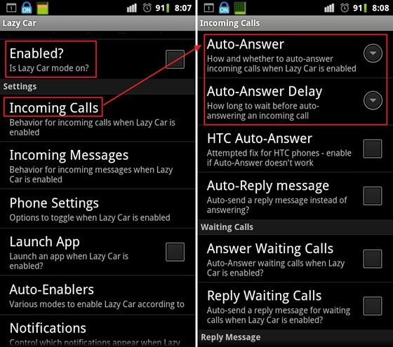 [Android] Lazy Car 開車族必備應用程式,可自動接聽來電、回覆簡訊!