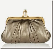 Christian Louboutin Metallic Leather Clutch